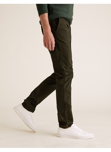 Marks & Spencer Slim Fit Chino Pantolon Yeşil